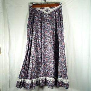 Gunnies Gunne Sax Size 11 Floral Women's Skirt